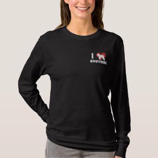 Jag älskar den Bouviers broderade skjortan Broderad Långärmad T-shirt