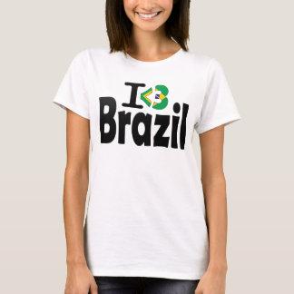 Jag älskar den Brasilien flaggaT-tröja Tshirts