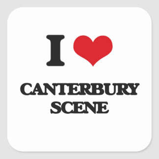Jag älskar den CANTERBURY PLATSEN Fyrkantiga Klistermärken