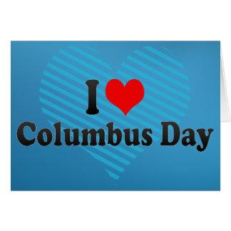 Jag älskar den Columbus dagen Hälsningskort