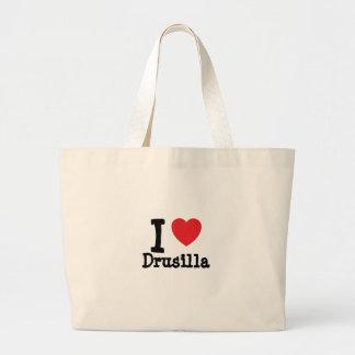 Jag älskar den Drusilla hjärtaT-tröja Tote Bags