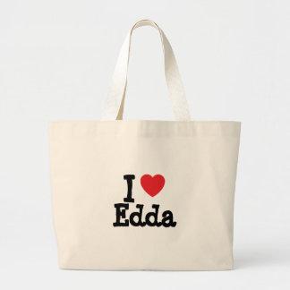 Jag älskar den Edda hjärtaT-tröja Tygkasse