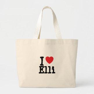 Jag älskar den Elli hjärtaT-tröja Tygkassar