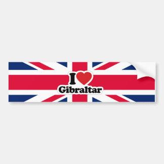 Jag älskar den Gibraltar bildekalet Bildekal