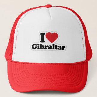 Jag älskar den Gibraltar truckerkepsen Truckerkeps