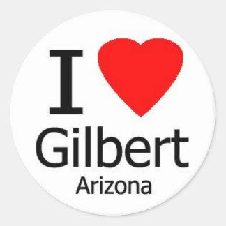 Jag älskar den Gilbert AZ klistermärken