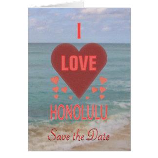 Jag älskar den Honolulu Hawaii sparan OBS Kort