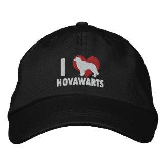Jag älskar den Hovawarts broderade hatten (mörk) Hatt