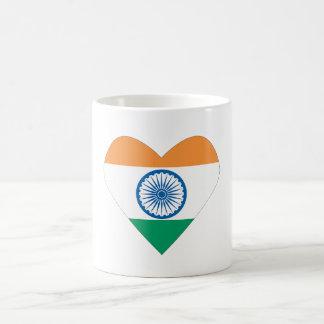 Jag älskar den Indien muggen/Indien hjärta Vit Mugg