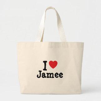 Jag älskar den Jamee hjärtaT-tröja Tygkasse