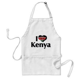 Jag älskar den Kenya flagga Förkläde