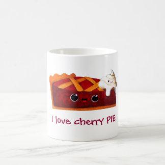 Jag älskar den körsbärsröda pajen kaffemugg