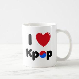Jag älskar den Kpop muggen Kaffemugg