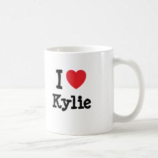 Jag älskar den Kylie hjärtaT-tröja Kaffemugg