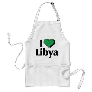 Jag älskar den Libyen flagga Förkläde