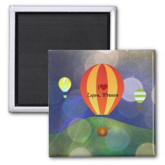 Jag älskar den Lyon frankrikeluftballongen Magnet