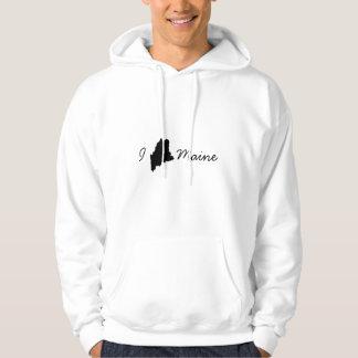 Jag älskar den Maine tröjan Tröja Med Luva
