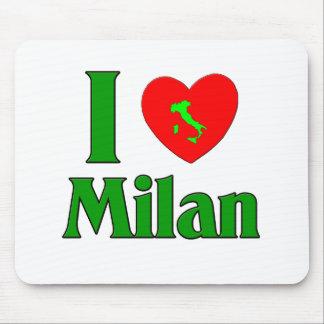 Jag älskar den Milan italien Mus Mattor