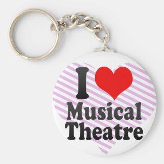 Jag älskar den musikaliska theatren rund nyckelring