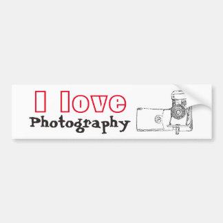 Jag älskar den Retro kameran för fotografi Bildekal
