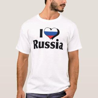 Jag älskar den Ryssland flaggaskjortan T-shirts