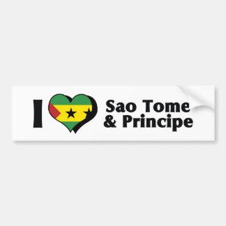 Jag älskar den São Tomé och Príncipe flagga Bildekal