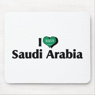 Jag älskar den Saudiarabien flagga Mus Matta