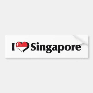 Jag älskar den Singapore flagga Bildekal