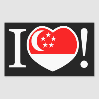 Jag älskar den Singapore klistermärken