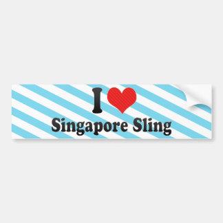 Jag älskar den Singapore remmen Bildekal