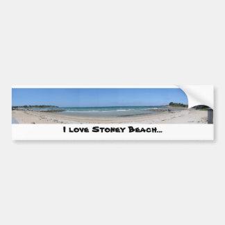 Jag älskar den Stoney stranden… Bildekal