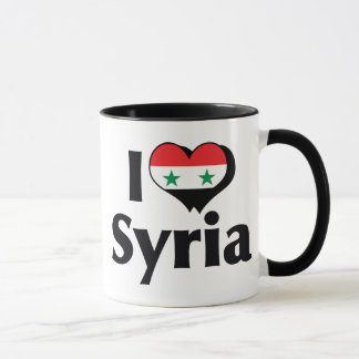 Jag älskar den Syrien flagga