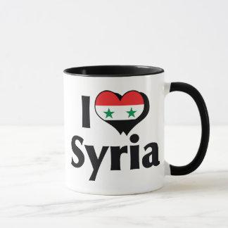 Jag älskar den Syrien flagga Mugg