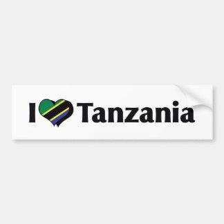 Jag älskar den Tanzania flagga Bildekal