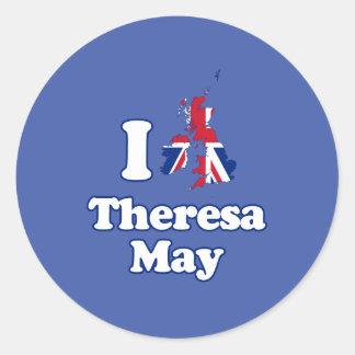 Jag älskar den Theresa maj - GBR -- Runt Klistermärke