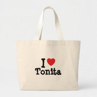 Jag älskar den Tonita hjärtaT-tröja Kassar
