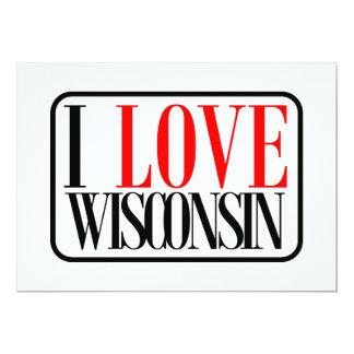 Jag älskar den Wisconsin designen 12,7 X 17,8 Cm Inbjudningskort