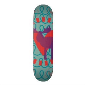 Jag älskar design för älskare för natur för old school skateboard bräda 18 cm