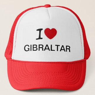 Jag älskar design för Gibraltar lastbilsförarehatt Keps