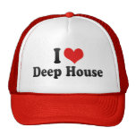 Jag älskar det djupa huset mesh kepsar