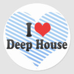 Jag älskar det djupa huset runda klistermärken