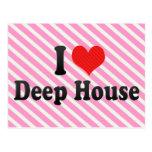 Jag älskar det djupa huset vykort