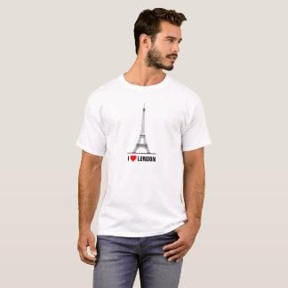 Jag älskar det London Eiffel torn T-shirts
