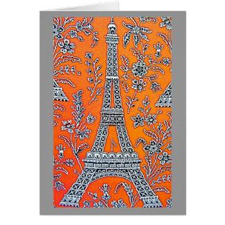 JAG ÄLSKAR det PARIS grå färgkortet Hälsningskort