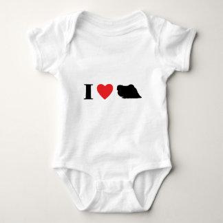 Jag älskar det Pekingese barnets T-tröja Tee Shirt