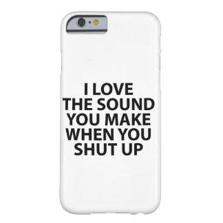 Jag älskar det solida fodral barely there iPhone 6 skal