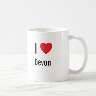 Jag älskar Devon Vit Mugg