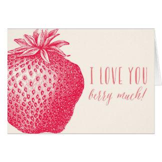 Jag älskar dig bär mycket! Valentin dagkort Hälsningskort
