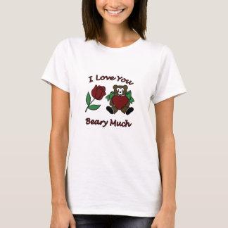 Jag älskar dig Beary som mycket nalle med hjärta T Shirts
