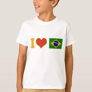 Jag älskar dig Brasilien Tee Shirt